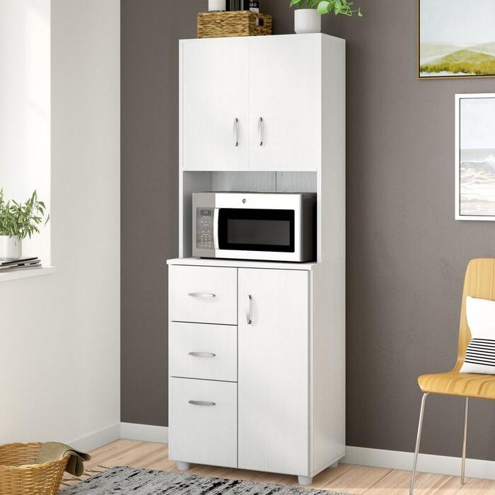 "Kidd Kitchen Pantry Regarding Fashionable Hyland 66"" Kitchen Pantry (Gallery 9 of 20)"