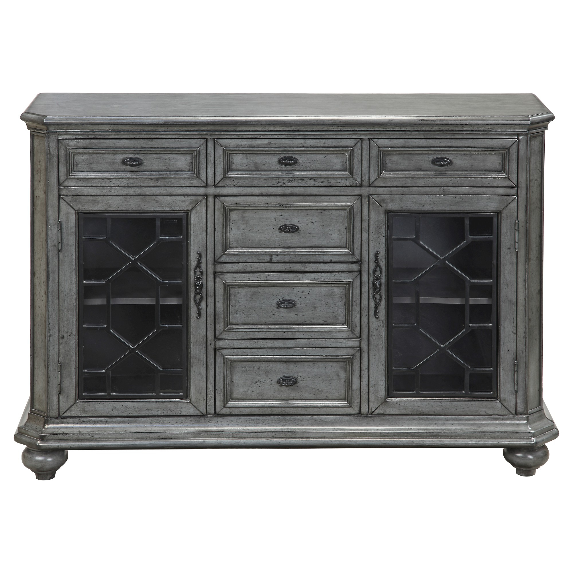 Kino Traditional Storage Cabinet – Grey – Christopher Knight Regarding Raquette Sideboards (View 8 of 20)