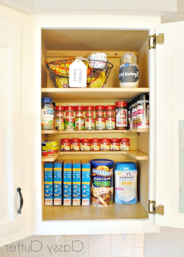 Kitchen Organization Tips And Tricks Pertaining To Popular Gatley Kitchen Pantry (View 12 of 20)