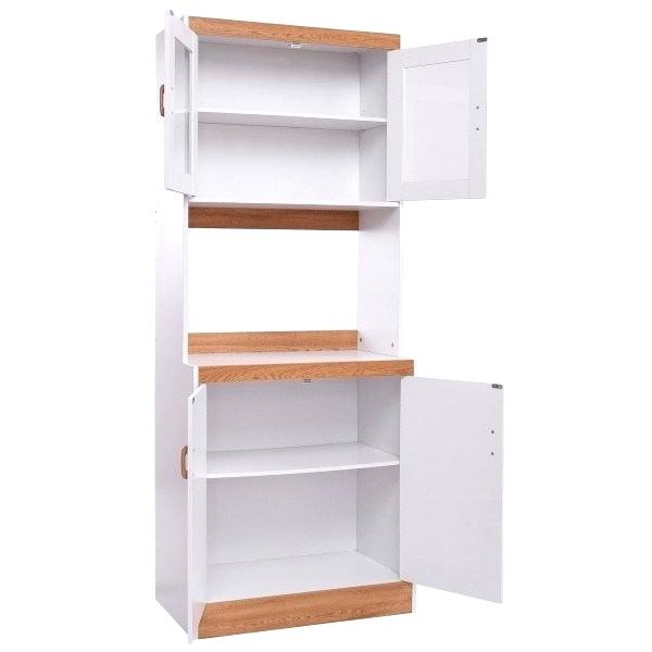 Kitchen Pantry By Ore Furniture Intended For Newest Microwave Cart With Shelves – Stephaniebaran (View 8 of 20)
