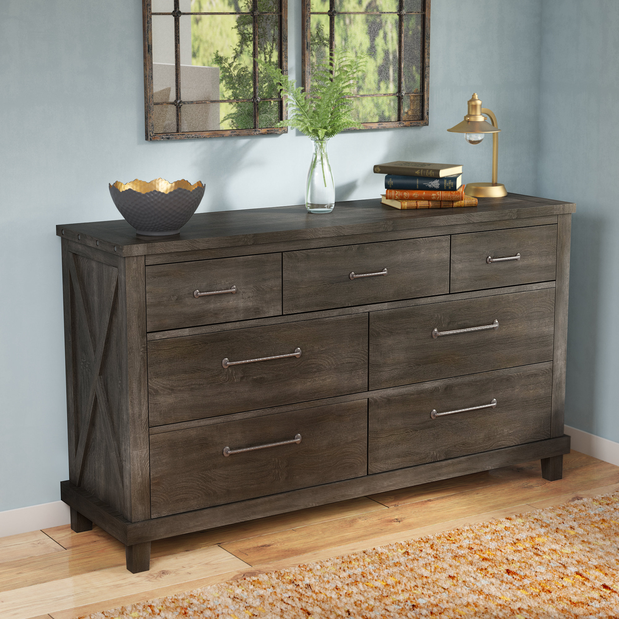Langsa 7 Drawer Double Dresser With Regard To Langsa Sideboards (View 15 of 20)
