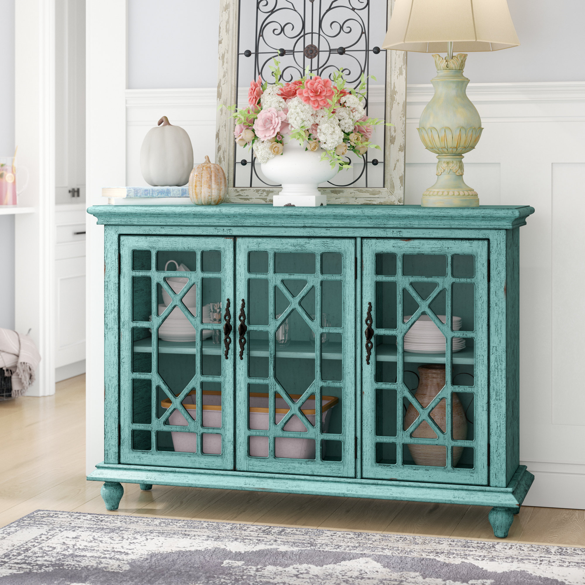 Lark Manor Mauldin 3 Door Sideboard & Reviews | Wayfair Inside Knoxville Sideboards (View 16 of 20)