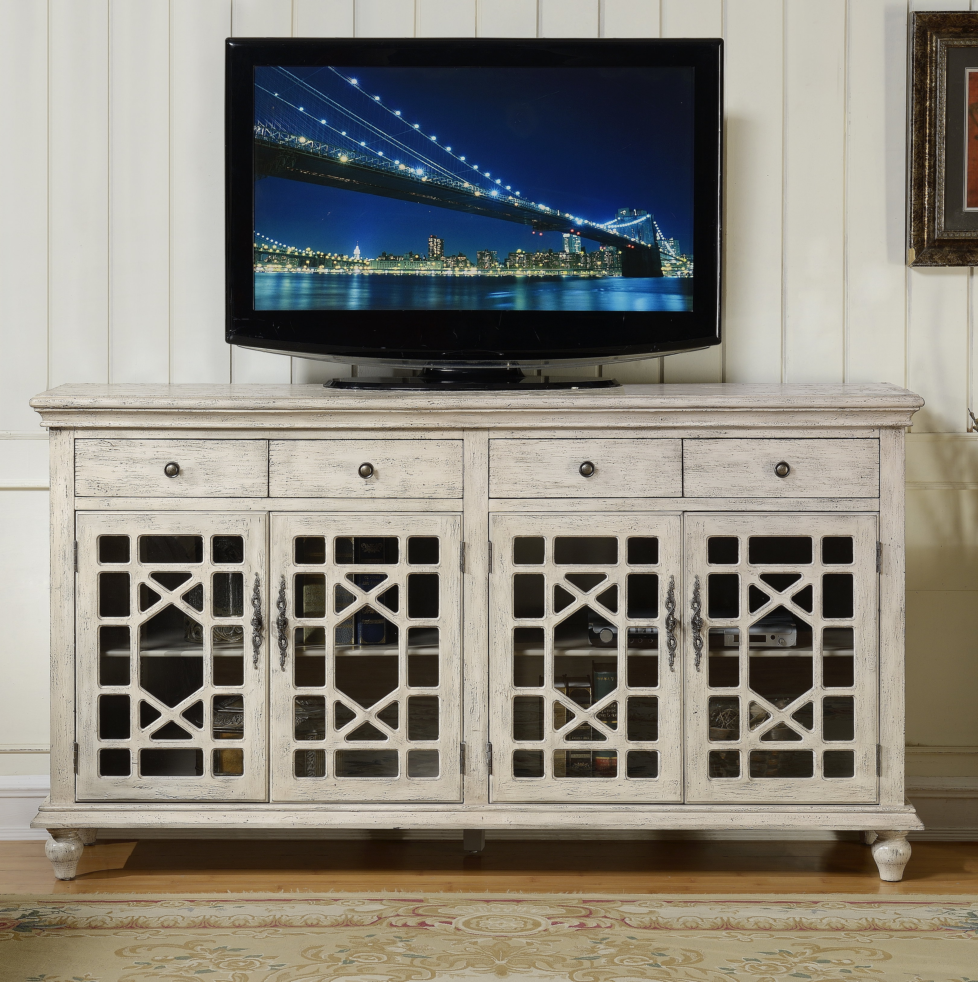 "Lark Manor Mauldin Tv Stand For Tvs Up To 75"" & Reviews Inside Colefax Vintage Tv Stands For Tvs Up To 78"" (View 5 of 20)"