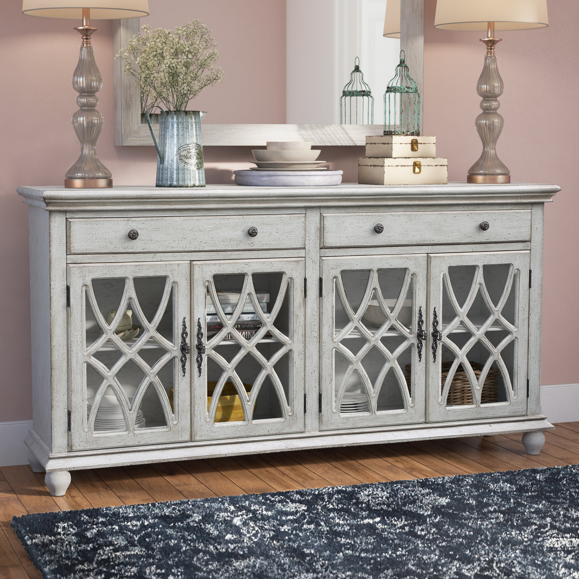 Lark Manor Raquette Sideboard & Reviews | Wayfair Throughout Raquette Sideboards (View 2 of 20)