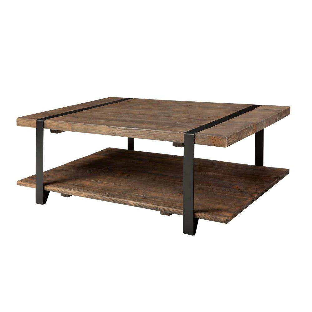 Latest Alaterre Country Cottage Wooden Long Coffee Tables Inside Modesto Rustic Natural Storage Coffee Table (View 18 of 20)