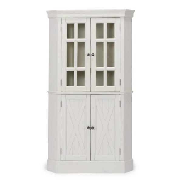 Latest Amaia 3 Piece Kitchen Pantry Inside Hodedah 4 Door White Kitchen Pantry Hi224 White – The Home Depot (View 12 of 20)