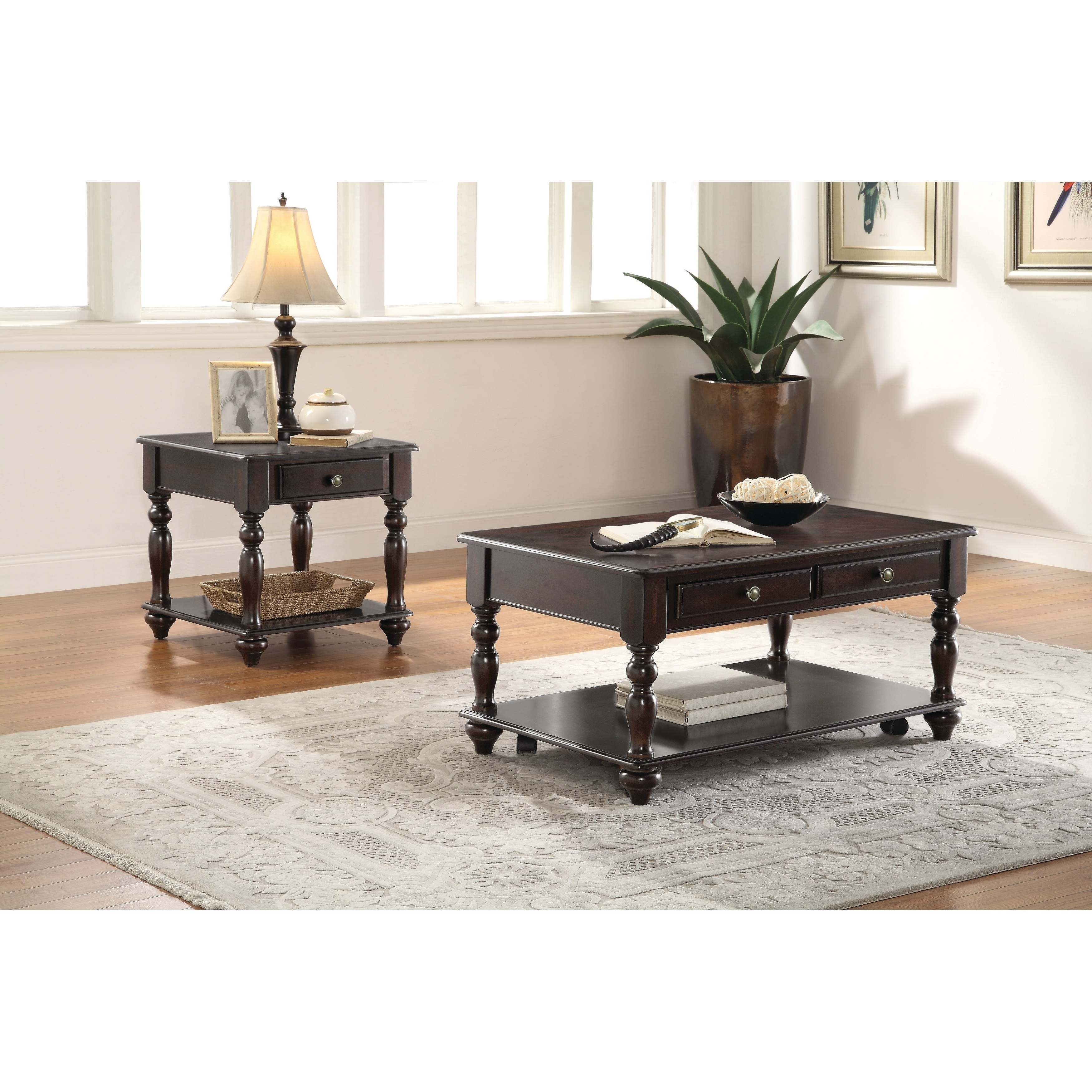 Latest Bellamy Traditional Weathered Peppercorn Storage Coffee Tables With Traditional Walnut Coffee Table (View 11 of 20)