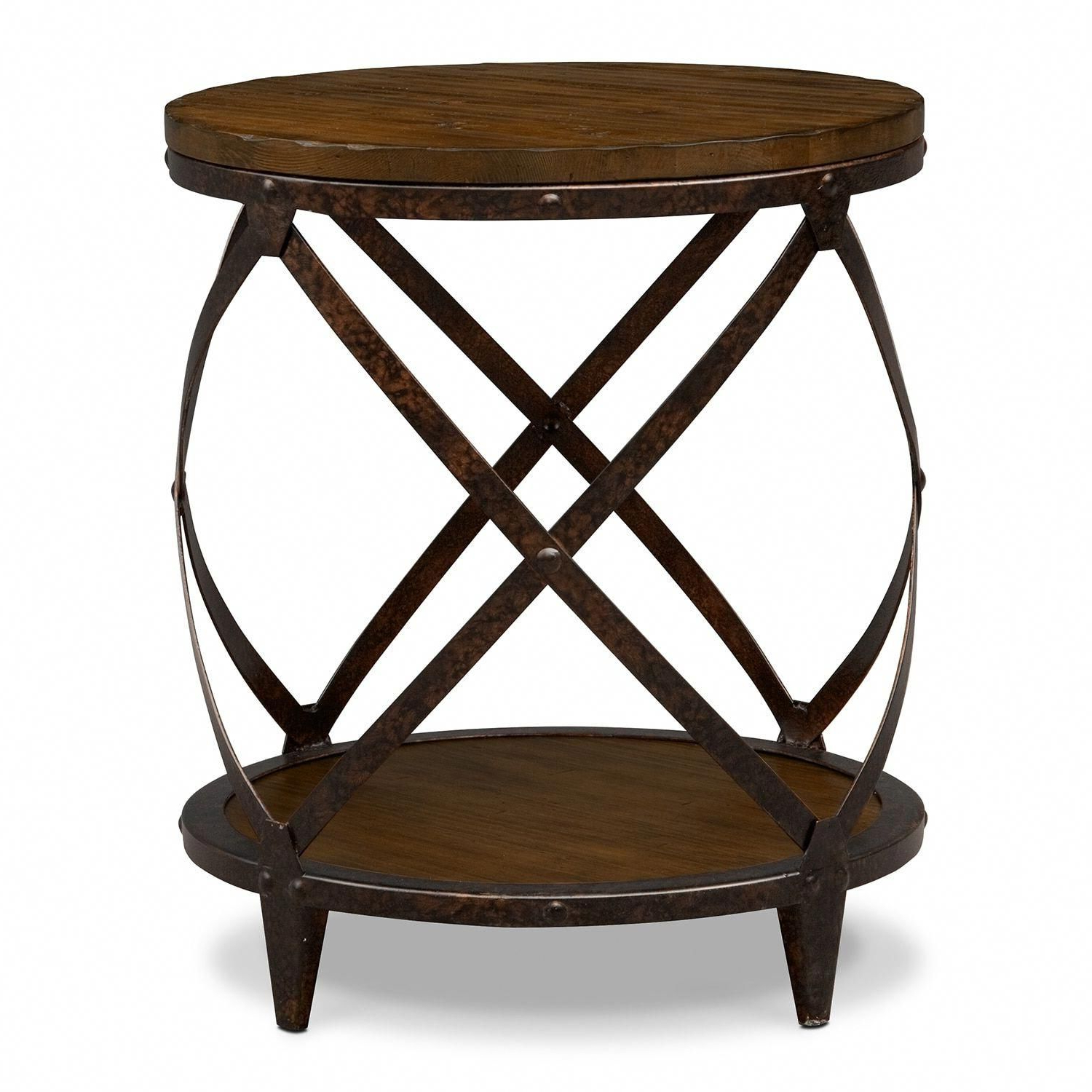 Latest Carbon Loft Fischer Brown Solid Birch And Iron Rustic Coffee Tables With Urban Remix (View 12 of 20)