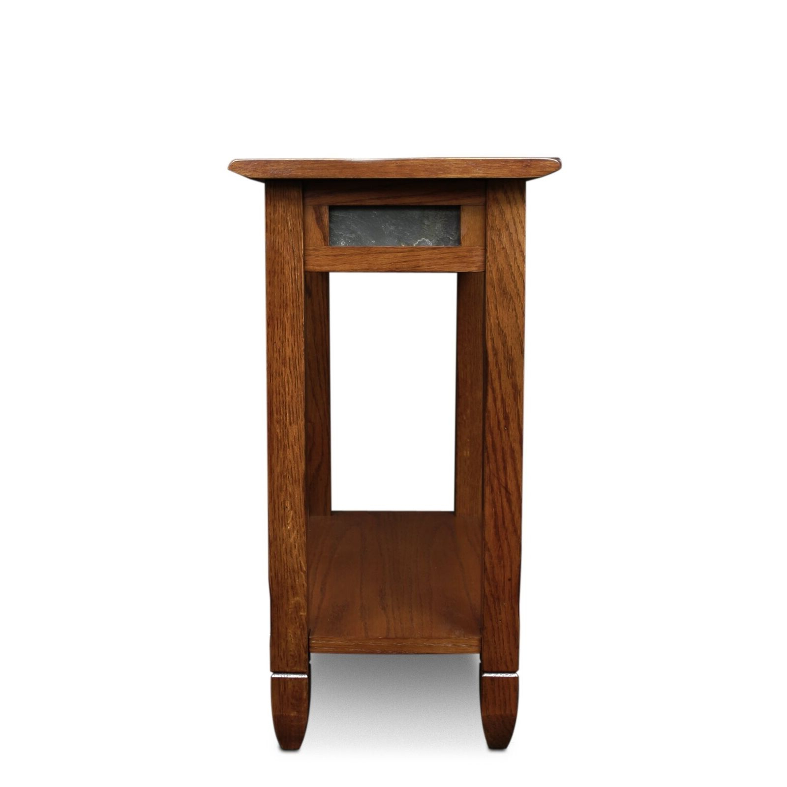 Latest Copper Grove Ixia Rustic Oak And Slate Tile Coffee Tables Pertaining To Leick 10060 Rustic Oak Chairside End Table (View 6 of 20)