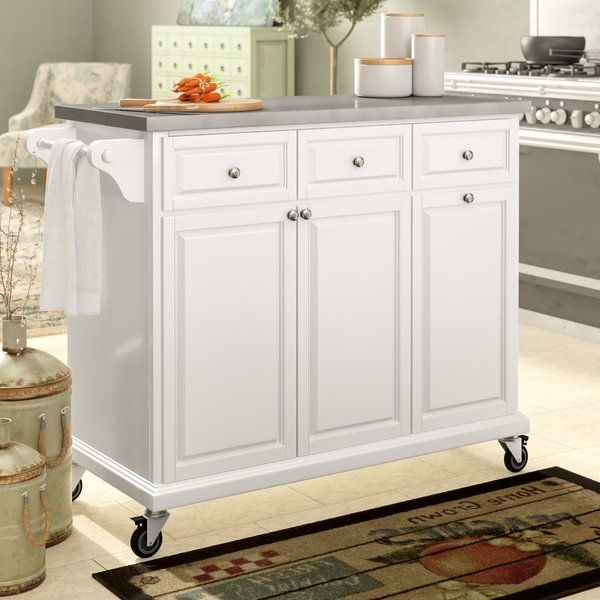 Latest Emblyn Kitchen Pantry In August Grove Philippe Kitchen Cart With Stainless Steel Top (View 16 of 20)