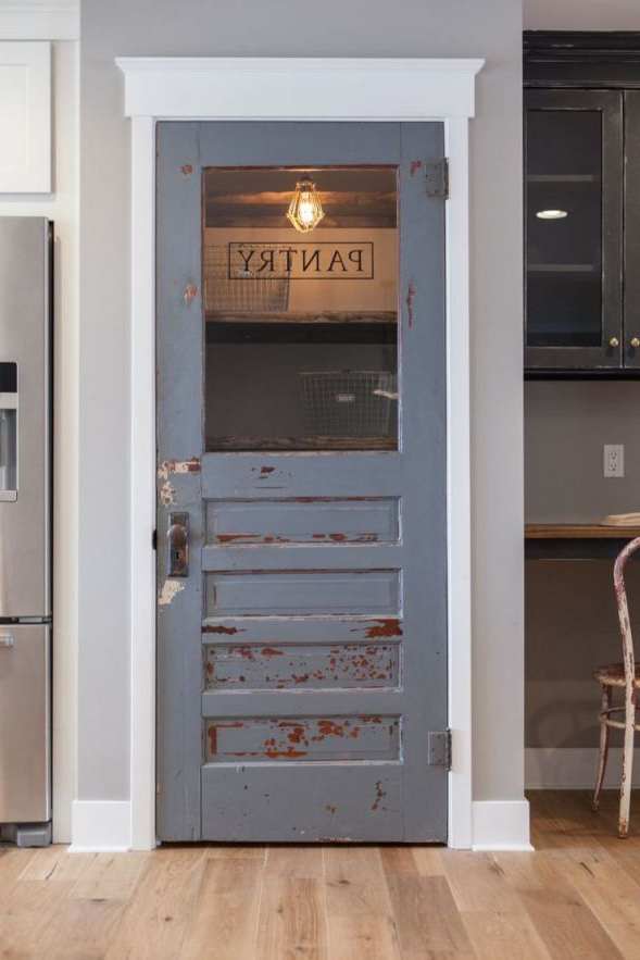 Latest Farmhouse Kitchen Pantry With Regard To Why A Cool Pantry Door Is The Secret Ingredient To A Cool (View 6 of 20)