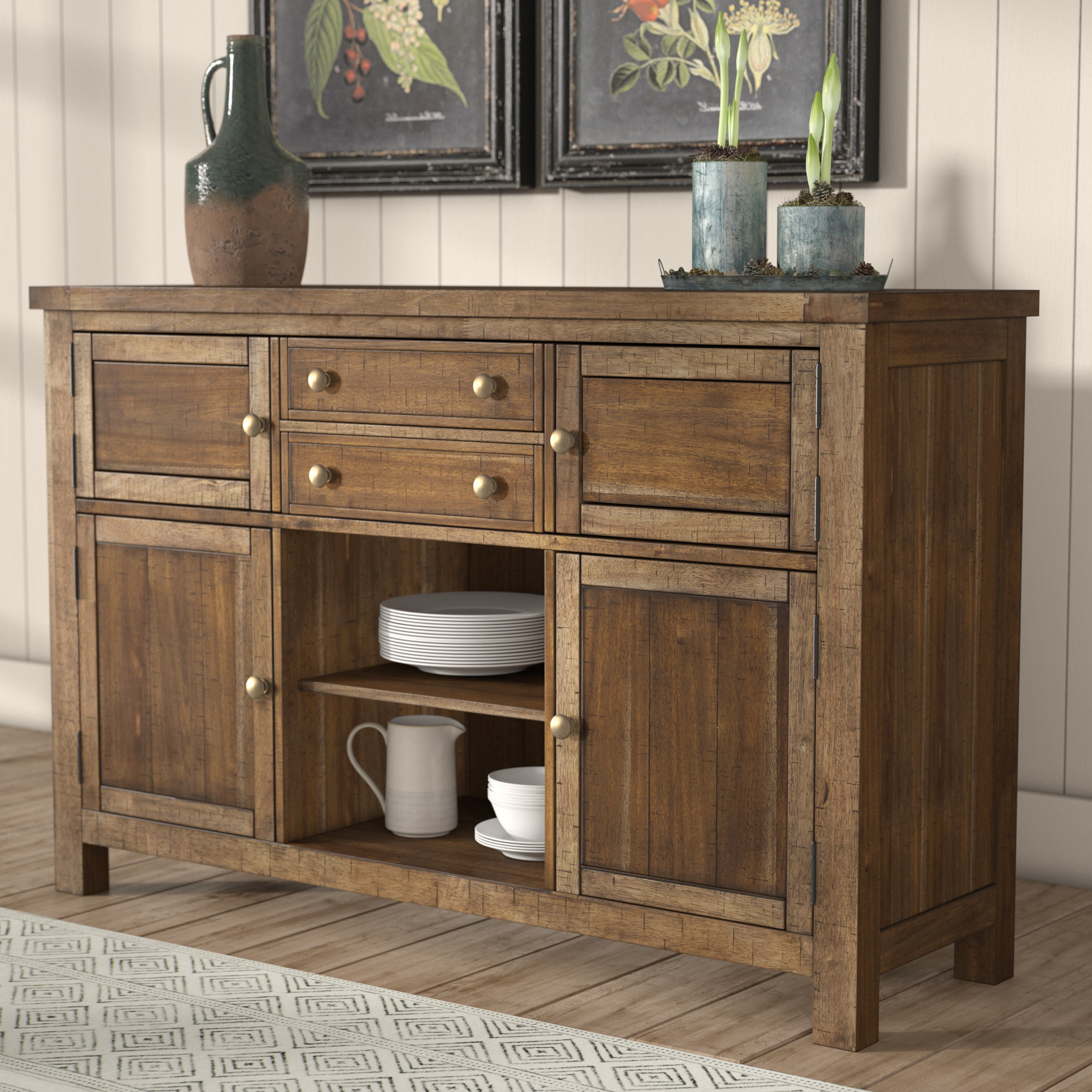 Laurel Foundry Modern Farmhouse Hillary Dining Room Buffet Pertaining To Saint Gratien Sideboards (View 16 of 20)