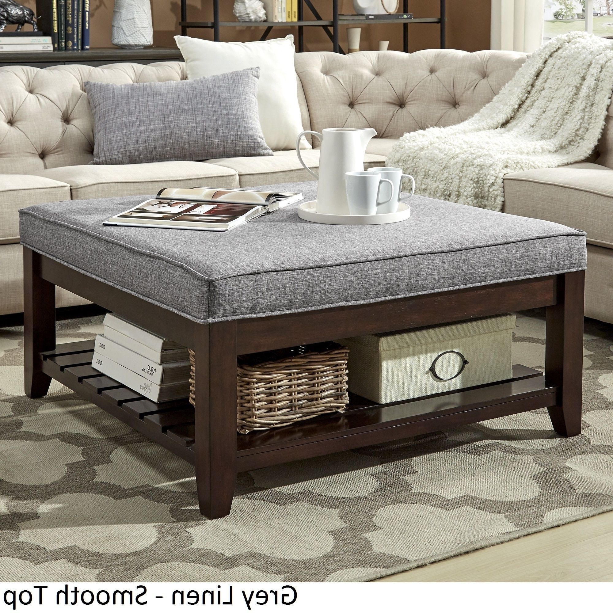 Lennon Espresso Planked Storage Ottoman Coffee Table For 2020 Lennon Pine Planked Storage Ottoman Coffee Tables (View 3 of 20)