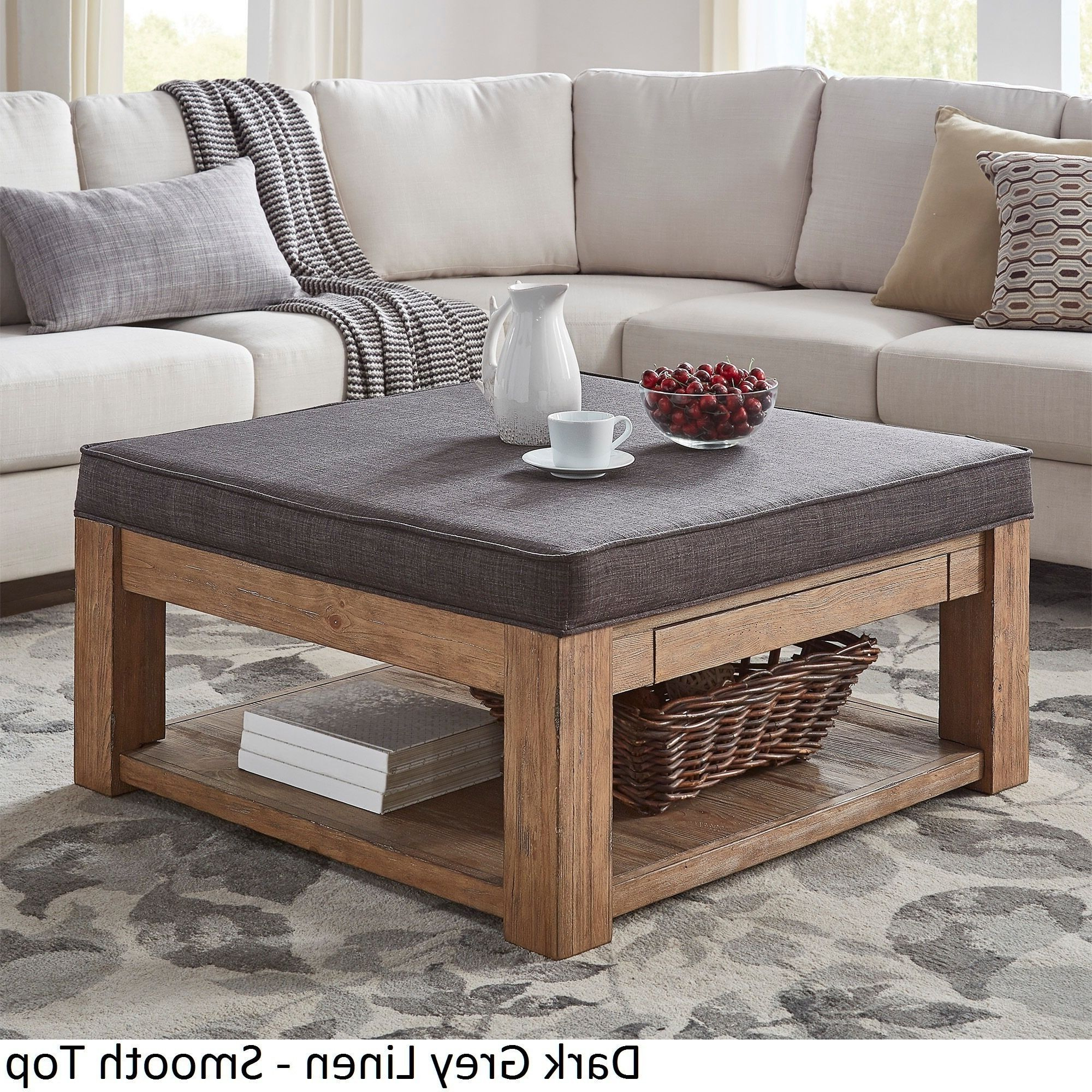 Lennon Pine Square Storage Ottoman Coffee Tableinspire Q Intended For Preferred Lennon Pine Planked Storage Ottoman Coffee Tables (View 5 of 20)