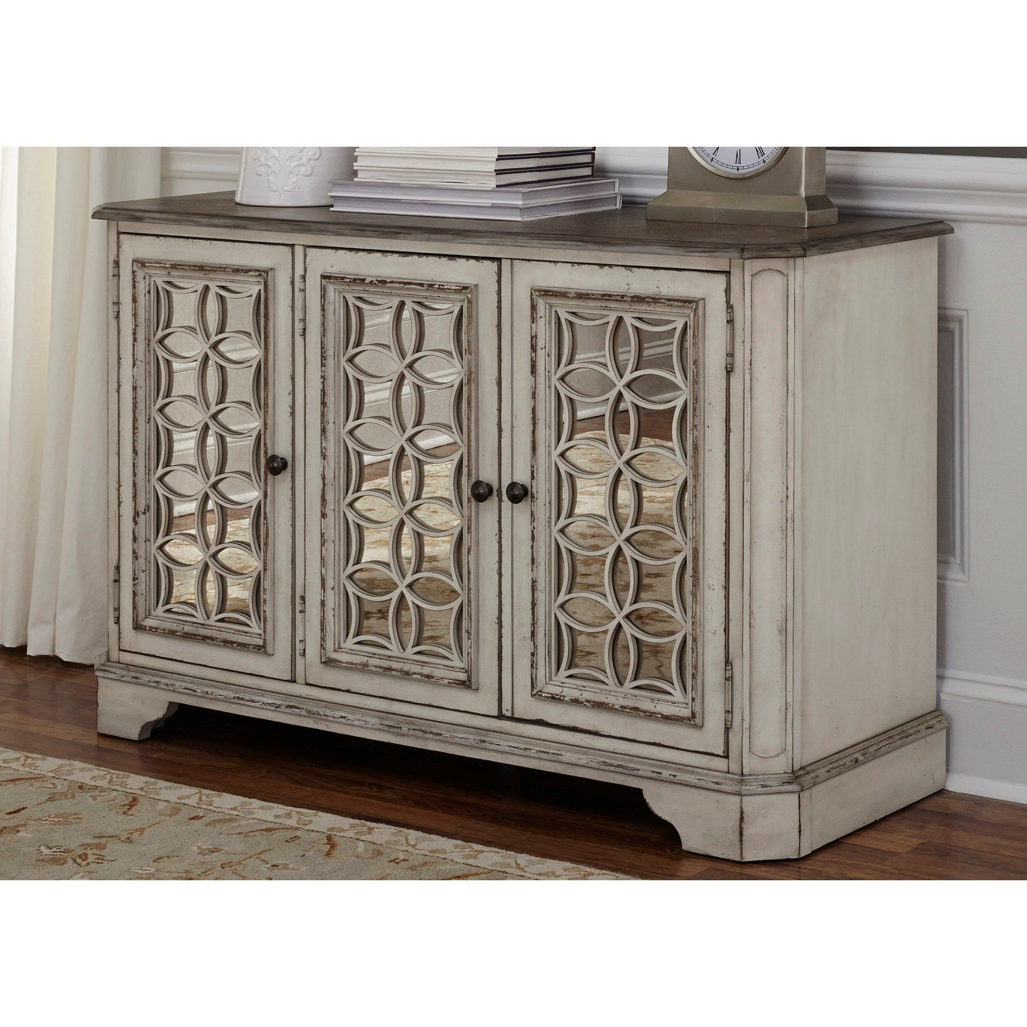 Liberty Furniture Magnolia Manor Tv Console With Thee Regarding Raunds Sideboards (View 9 of 20)