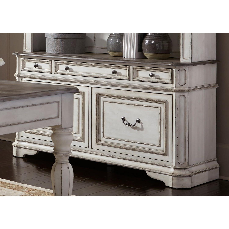 Liberty Magnolia Manor Antique White Credenza | Products For Abhinav Credenzas (View 14 of 20)