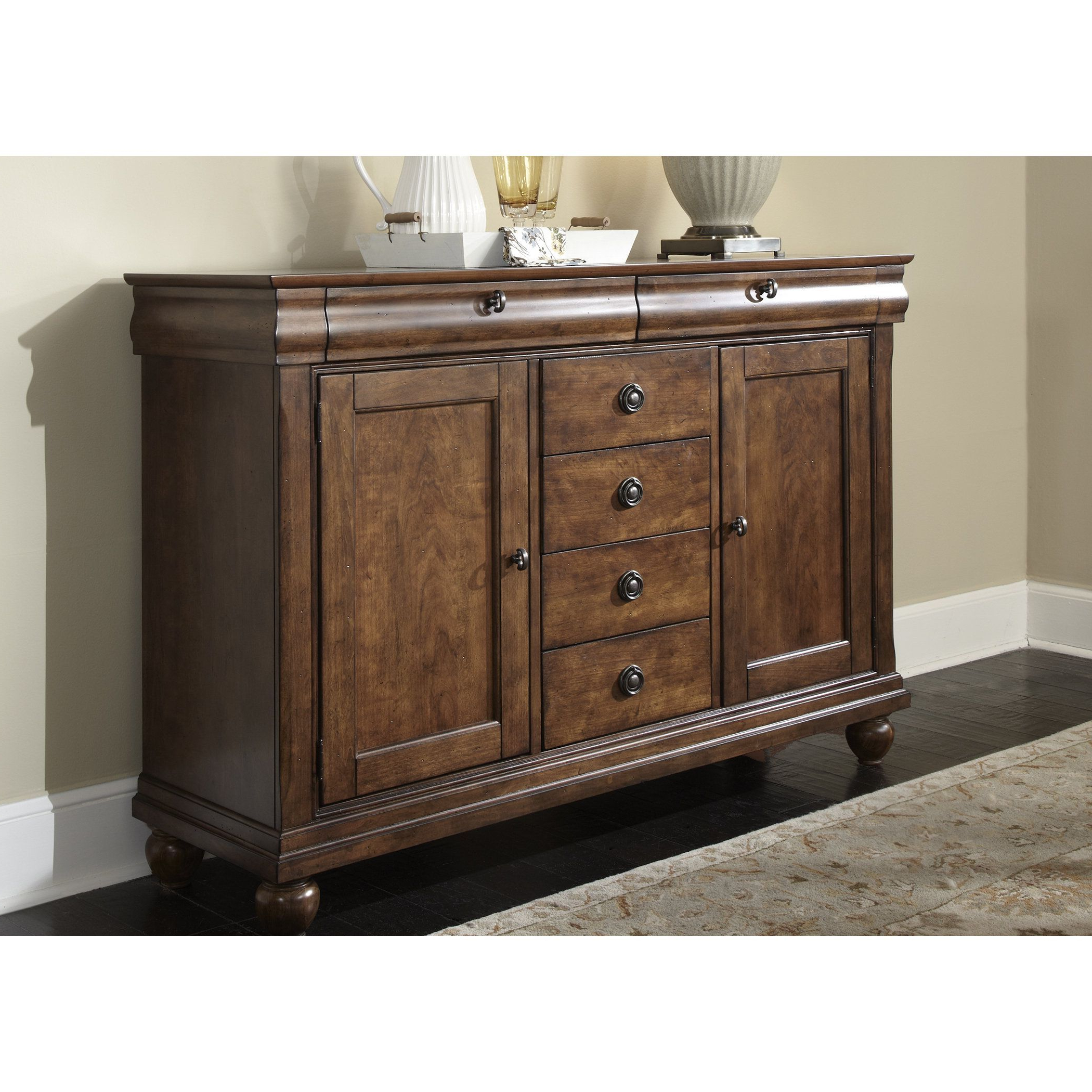 Liberty Rustic Tradition Cherry Server, Brown | Products For Chalus Sideboards (View 15 of 20)