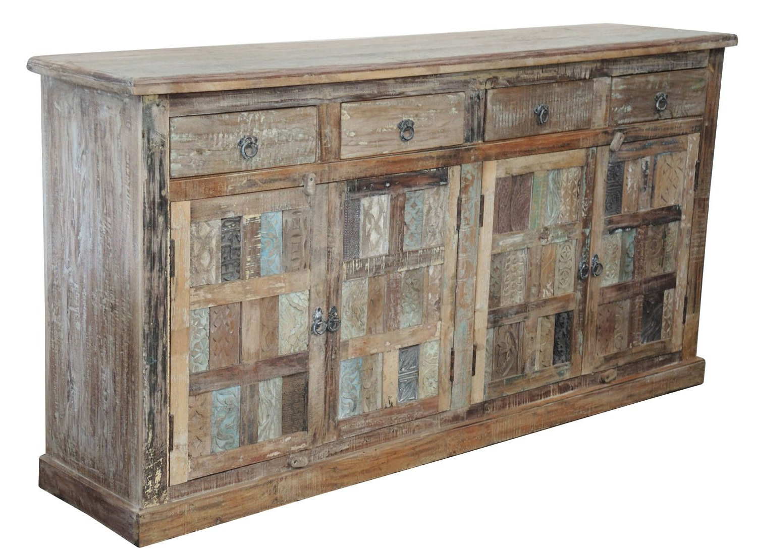 Light Distressed Indian Teak Cabinet From Terra Nova Designs Pertaining To Hayslett Sideboards (View 10 of 20)