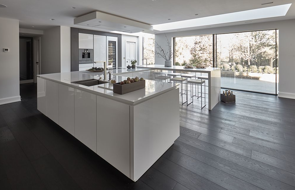 Lotus Kitchen Pantry Pertaining To Famous Siematic S2 Kitchen In Lotus White With Gaggenau 200 Series (View 9 of 20)