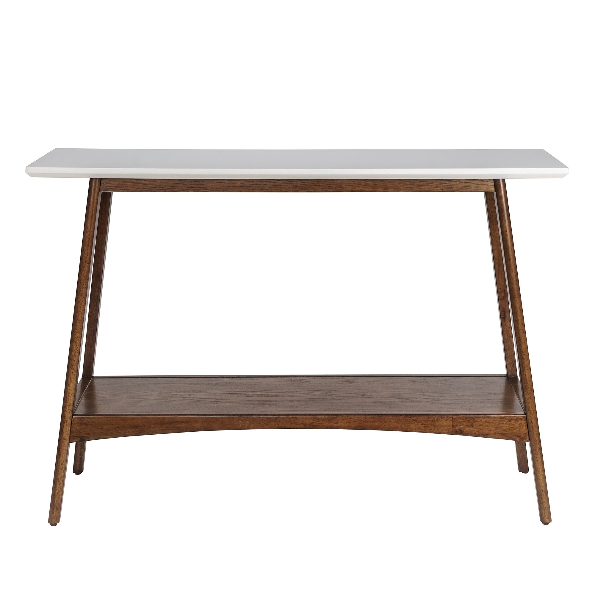 "Madison Park Avalon White/ Pecan Console – 48""w X 16""d X 32""h Inside Latest Madison Park Avalon White Pecan Coffee Tables (View 8 of 20)"