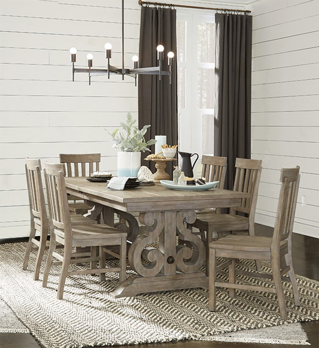 Magnussen Furniture Tinley Park 7pc Rectangular Dining Set In Dove Tail Grey In Well Liked Tinley Park Traditional Dove Tail Grey Coffee Tables (View 19 of 20)