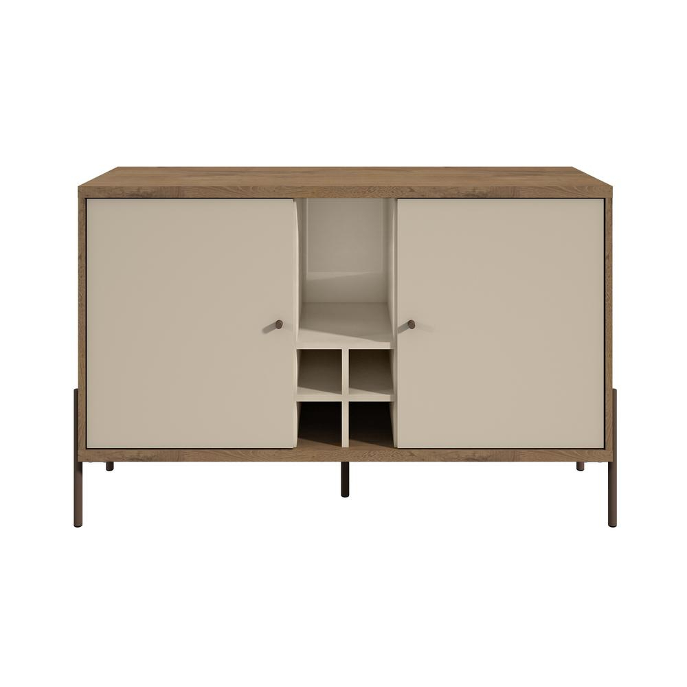 Manhattan Comfort Joy Off White 4 Bottle Wine Buffet Stand Intended For Serafino Media Credenzas (View 19 of 20)