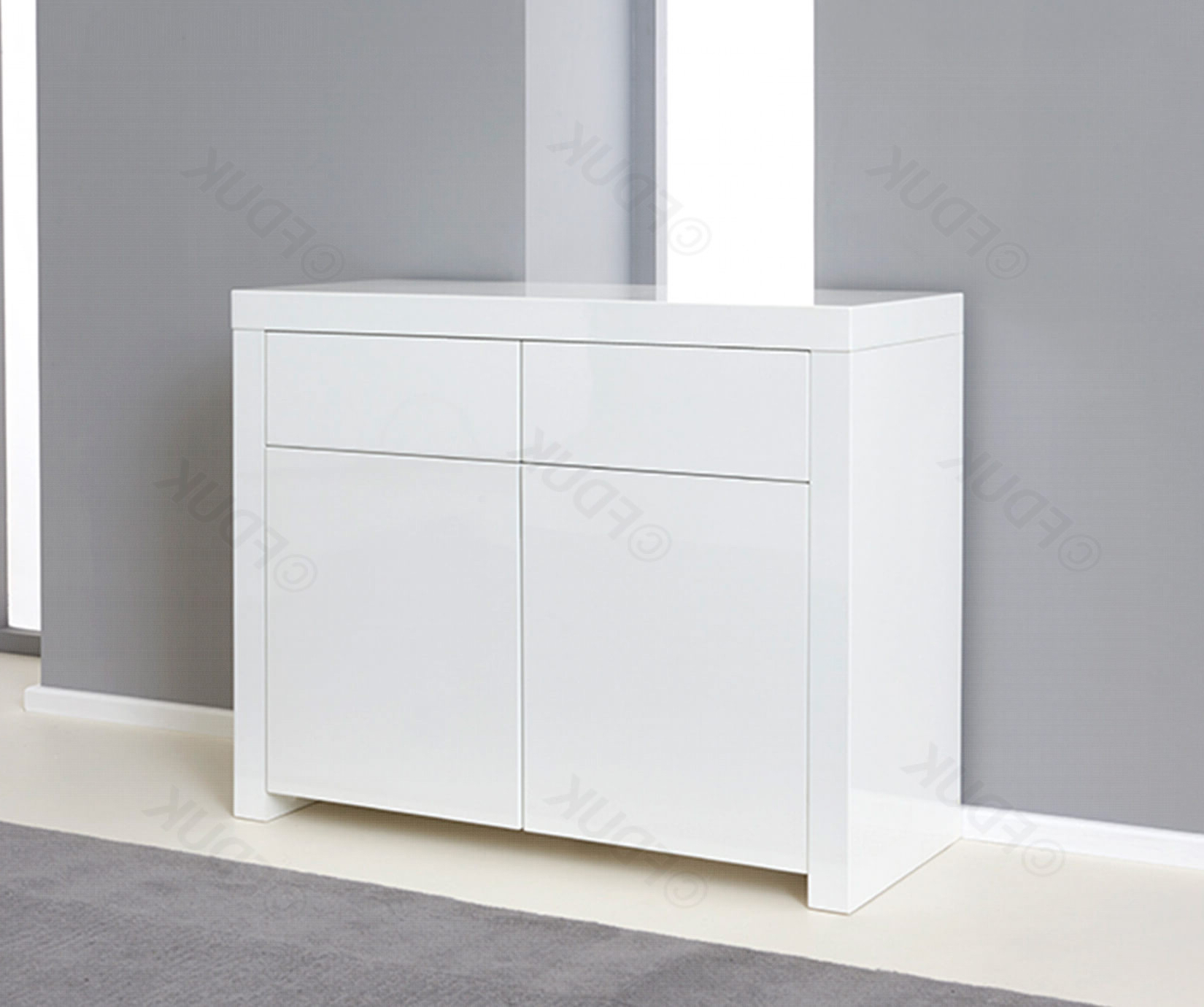 Mark Harris Hereford 2 Door 2 Drawer White High Gloss Sideboard Regarding Malibu 2 Door 1 Drawer Sideboards (View 13 of 20)