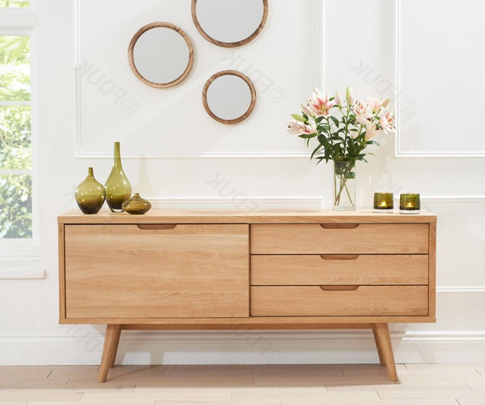 Mark Harris Tribeca Solid Oak Sideboard Intended For Tribeca Sideboards (View 14 of 20)
