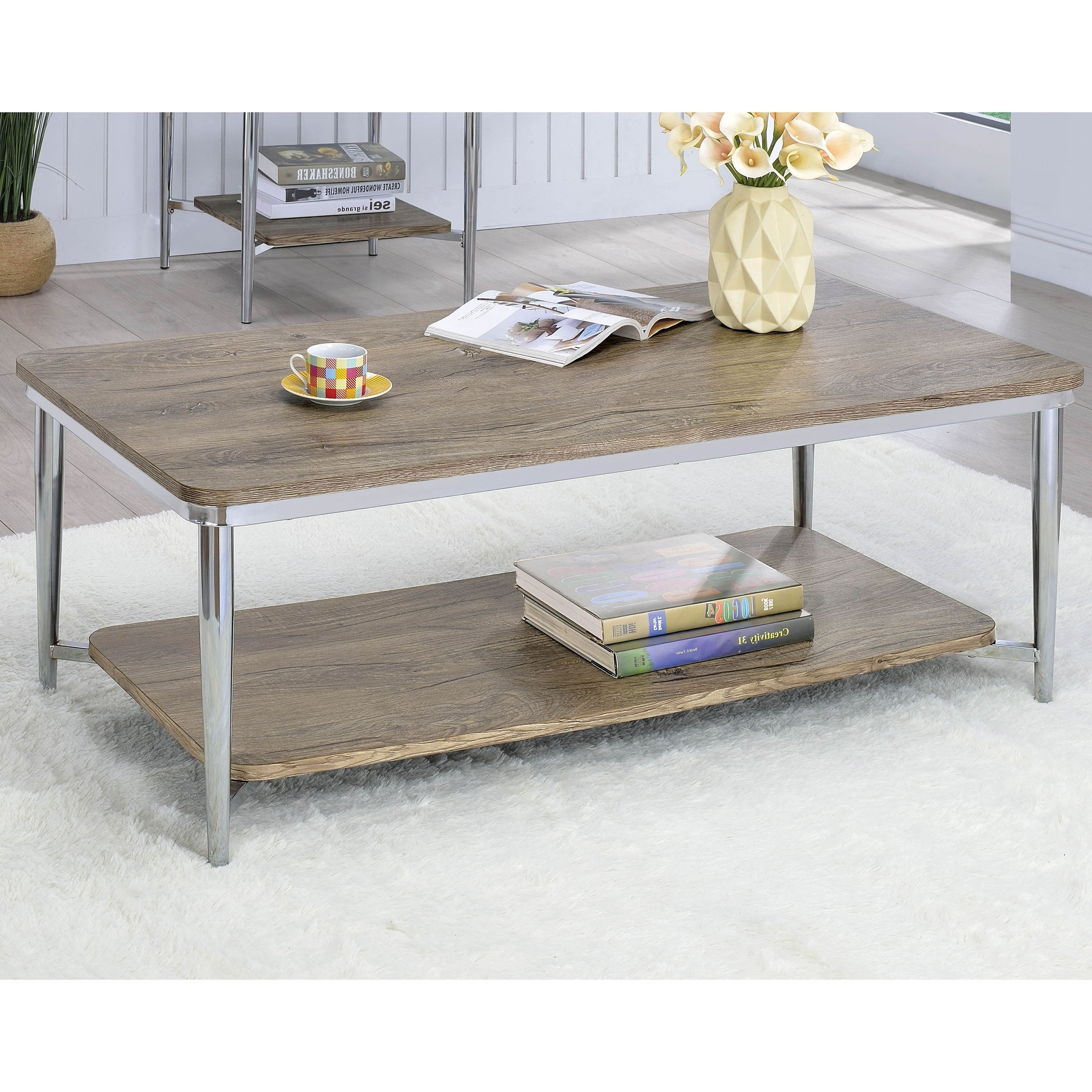 Marlo Contemporary Chrome Coffee Tablefoa Throughout Favorite Thalberg Contemporary Chrome Coffee Tables By Foa (View 7 of 20)