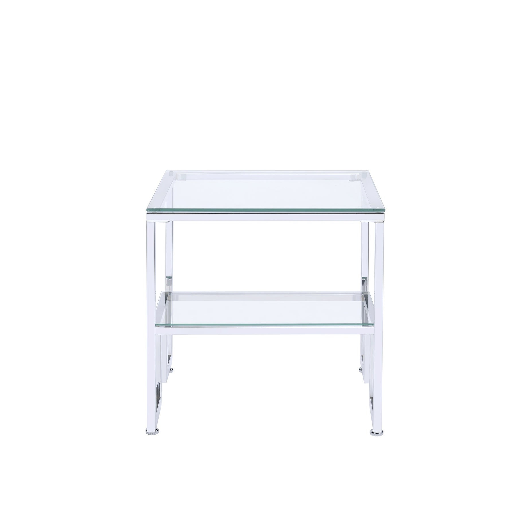 Matteo Modern Glass And Chrome Coffee Table Throughout Well Known Contemporary Chrome Glass Top And Mirror Shelf Coffee Tables (View 7 of 20)