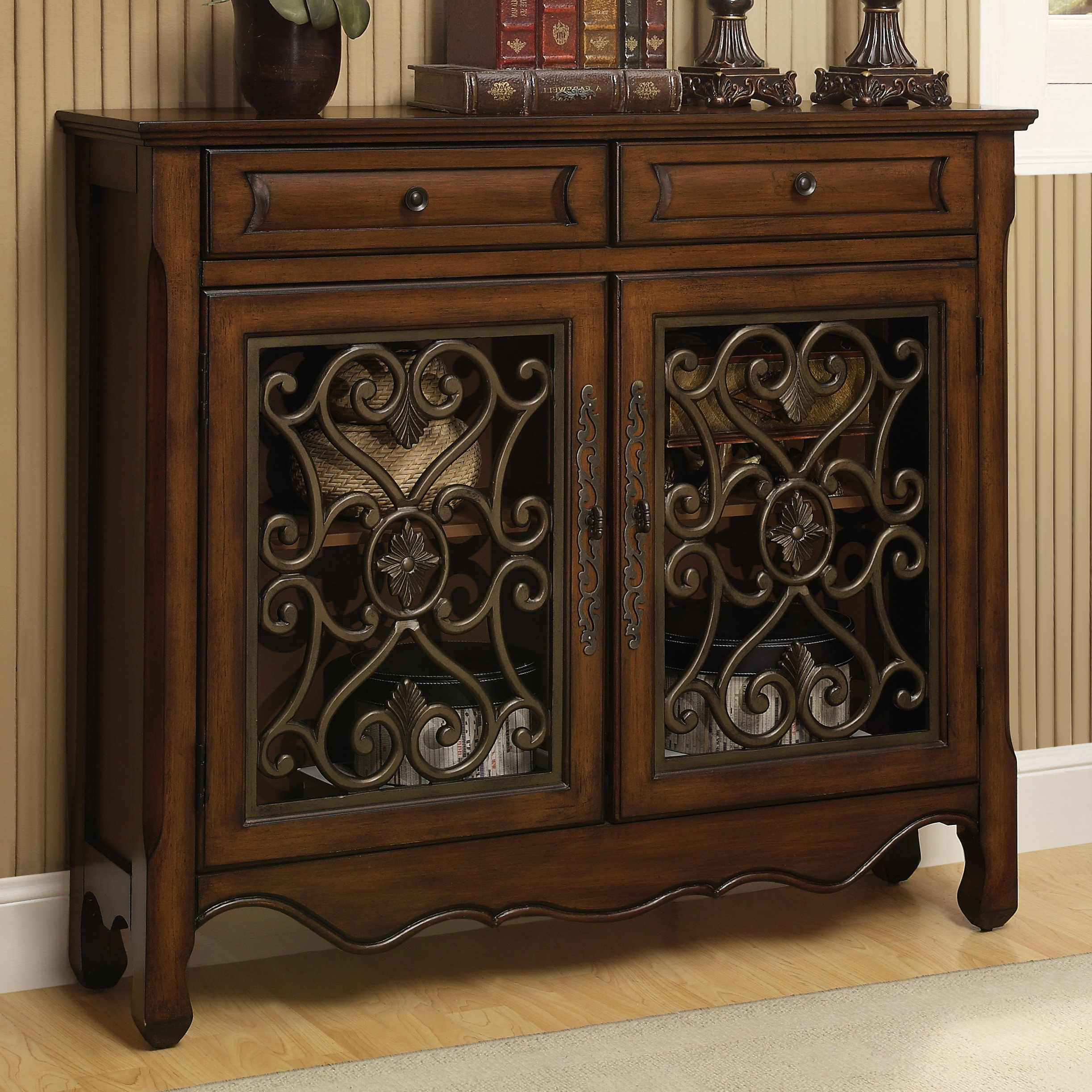 Mauzy 2 Door Accent Cabinet In Mauzy Sideboards (View 6 of 20)