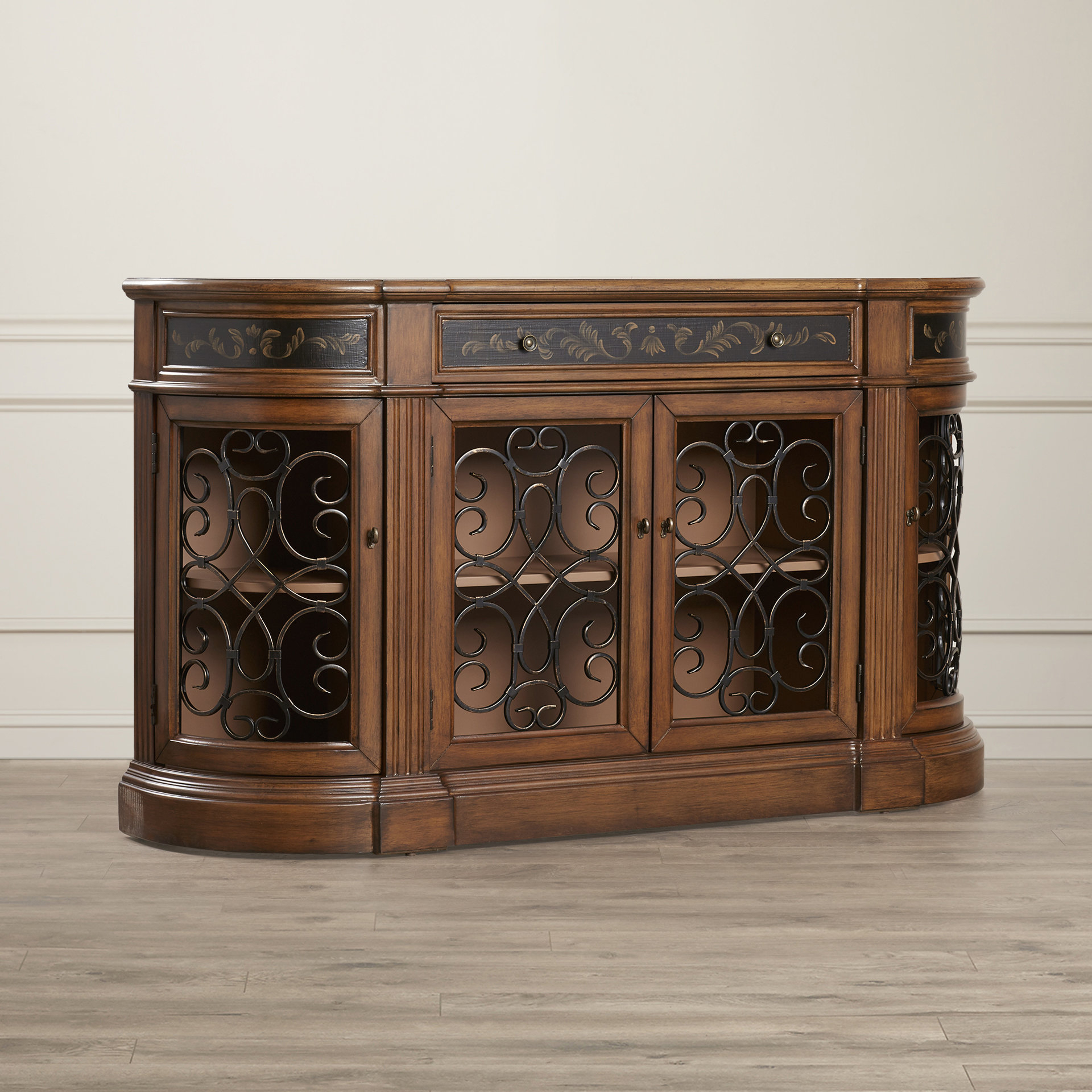 Medium Yellow Wood Sideboard / Credenza Sideboards & Buffets Intended For Nashoba Sideboards (View 8 of 20)