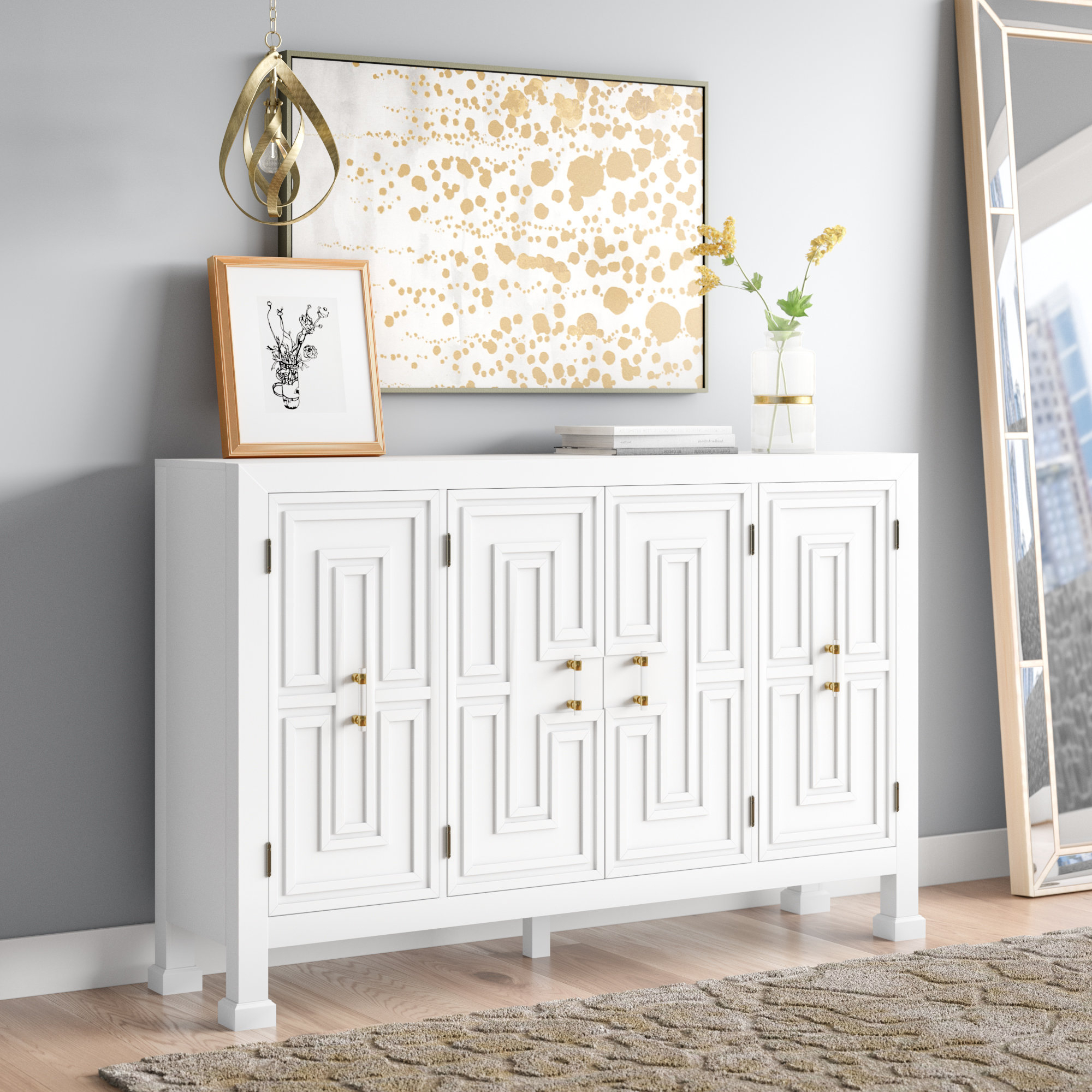Mercer41 Lainey Credenza & Reviews | Wayfair Throughout Lainey Credenzas (View 11 of 20)