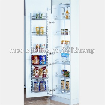 Metal Kitchen Cabinet Wire Pantry Organizerunit Basket /tall Unit Pull Out  Wire Magic Basket( 900. (View 7 of 20)