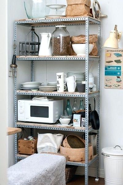 Metal Pantry Shelves – Water (View 20 of 20)