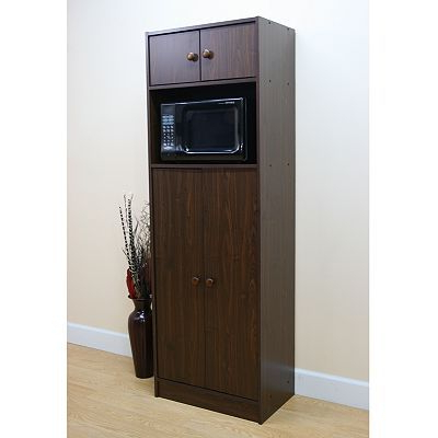 Microwave Pertaining To 2019 Maeda Kitchen Pantry (View 13 of 20)