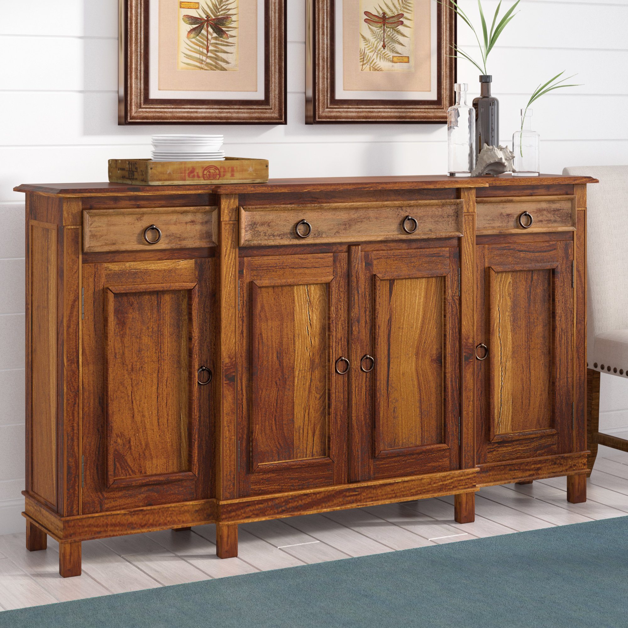 Minneola Cottage Wood Buffet Table With Sayles Sideboards (View 14 of 20)