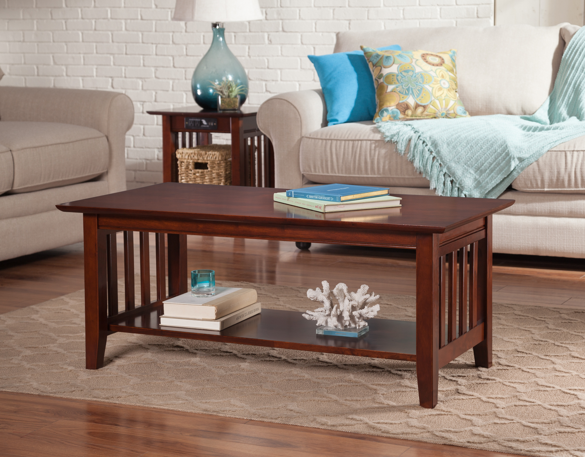 Mission Coffee Table In Walnut Or Caramel With Regard To Popular Mission Walnut Coffee Tables (View 7 of 20)