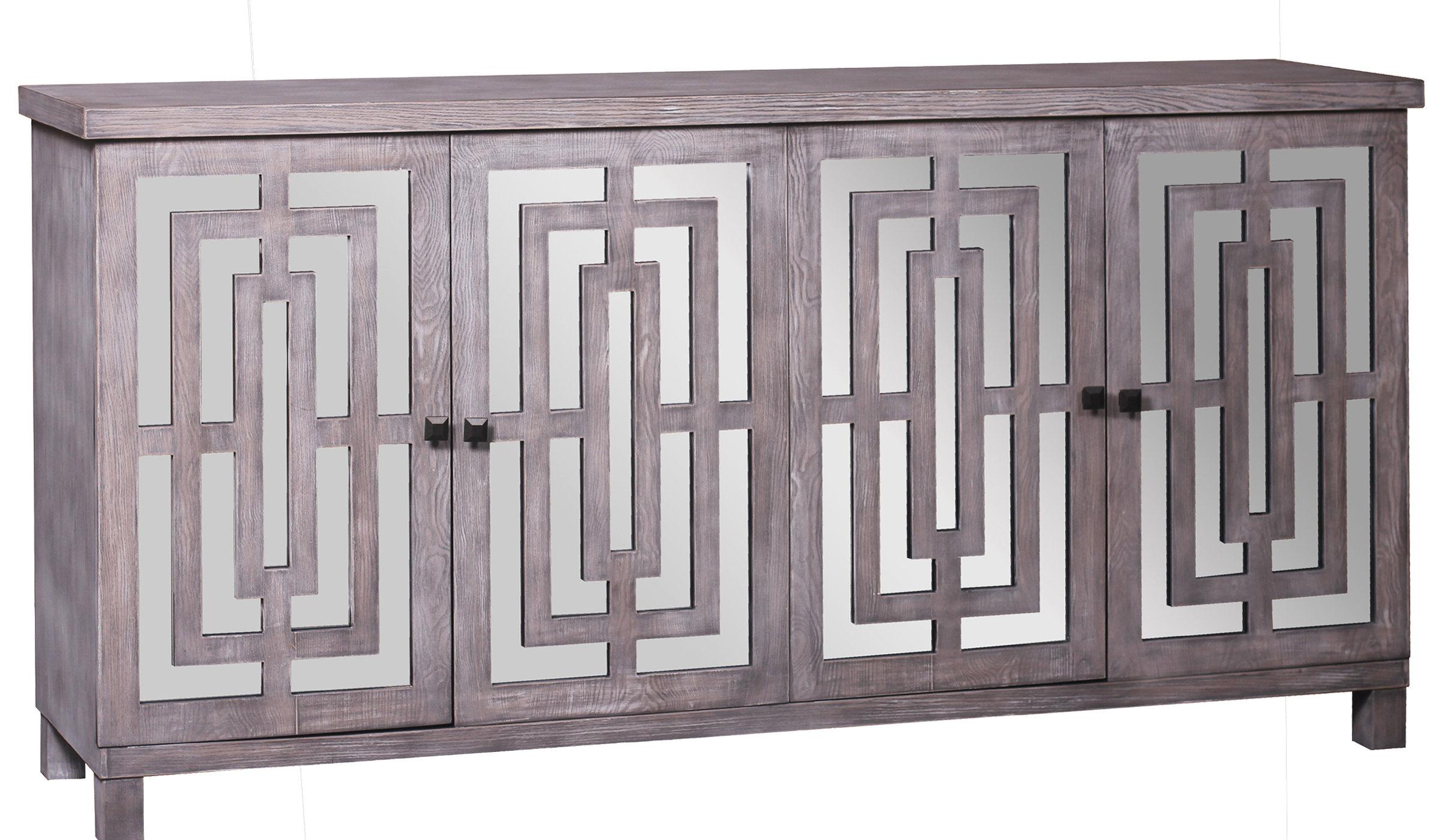Modern & Contemporary Kieth 4 Door Credenza | Allmodern For Kattie 4 Door Cabinets (View 16 of 20)