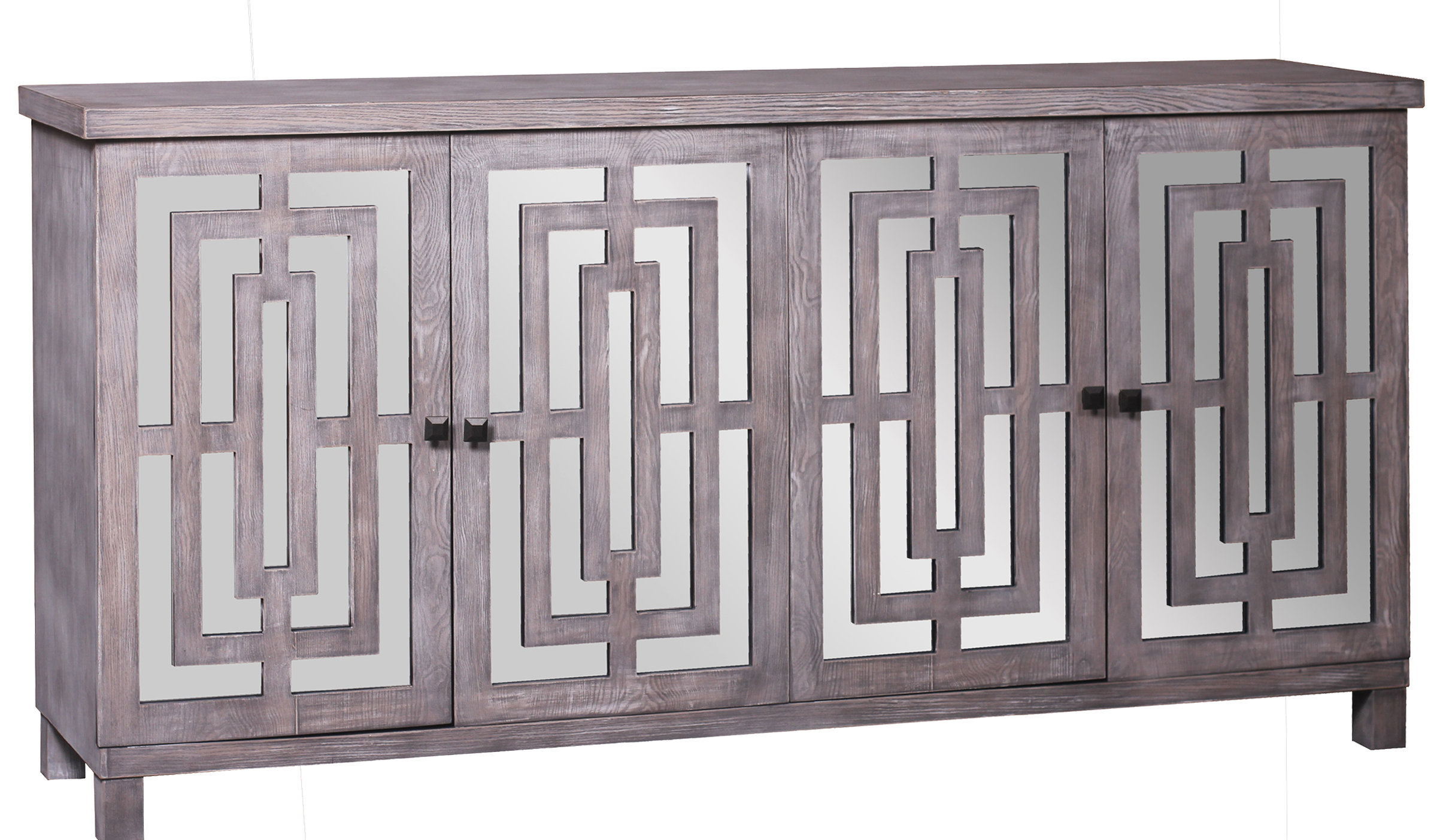 Modern & Contemporary Kieth 4 Door Credenza | Allmodern For Kieth 4 Door Credenzas (View 5 of 20)