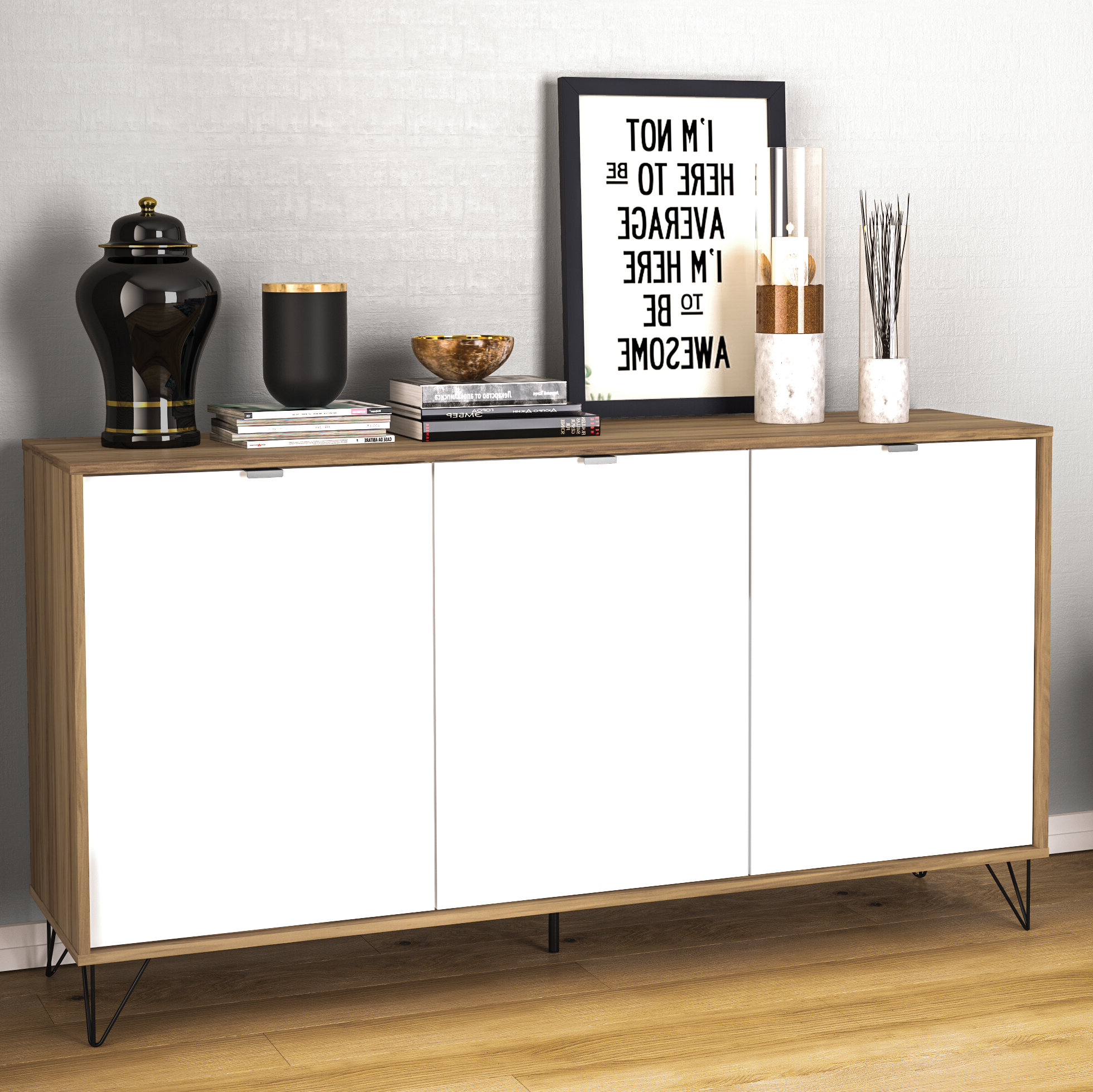 Modern & Contemporary White Lacquer Sideboard | Allmodern Within Thite Sideboards (View 16 of 20)