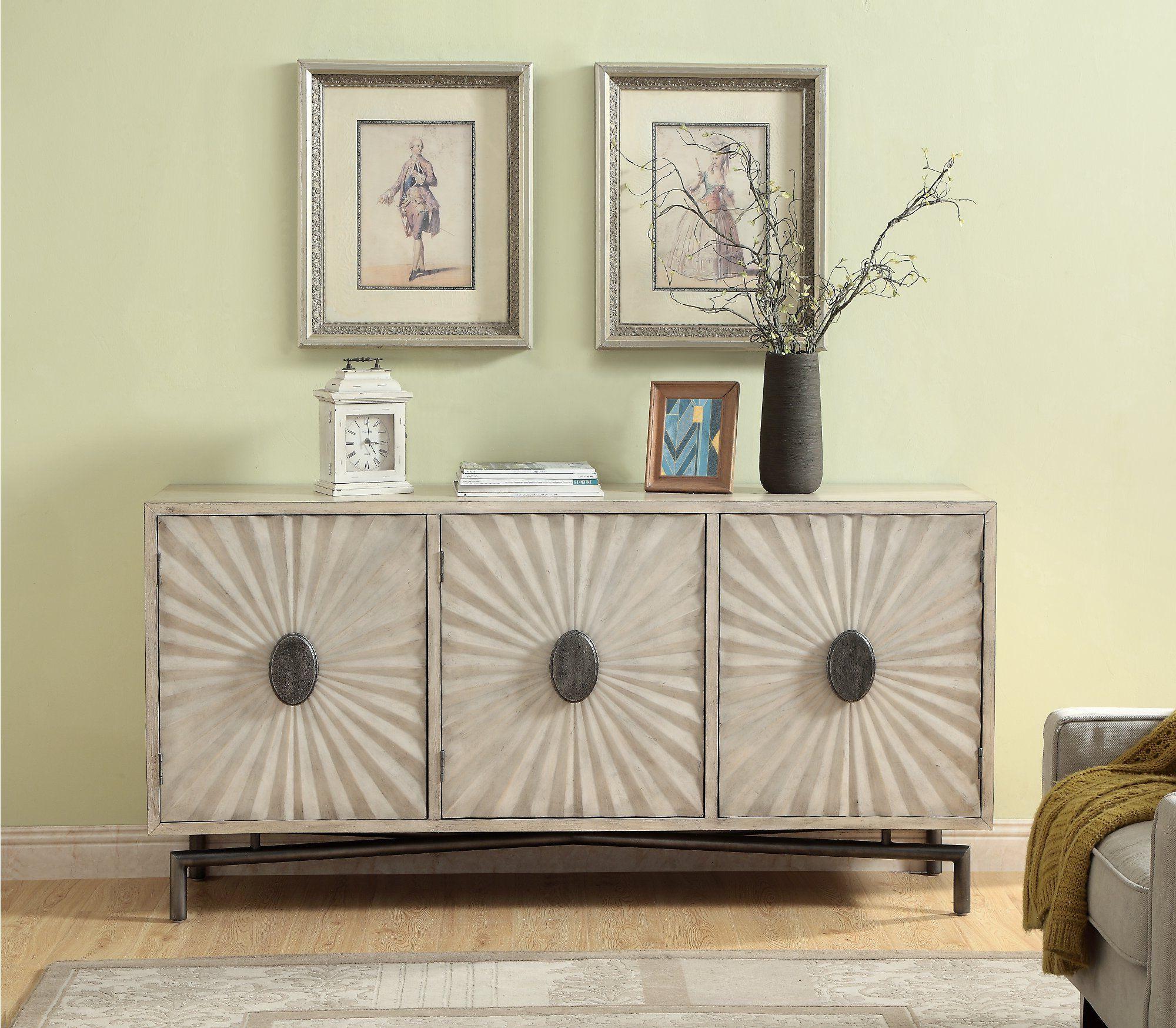 Modern Cream 3 Door Credenza – Dayton   Rc Willey Furniture Inside Errol Media Credenzas (View 20 of 20)