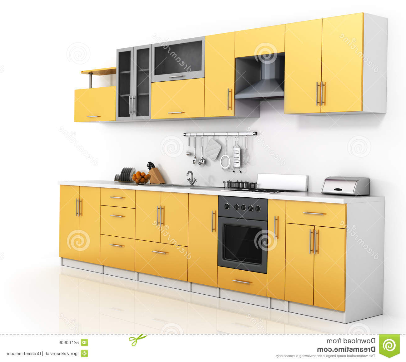 Modern Kitchen Stock Illustration (View 20 of 20)