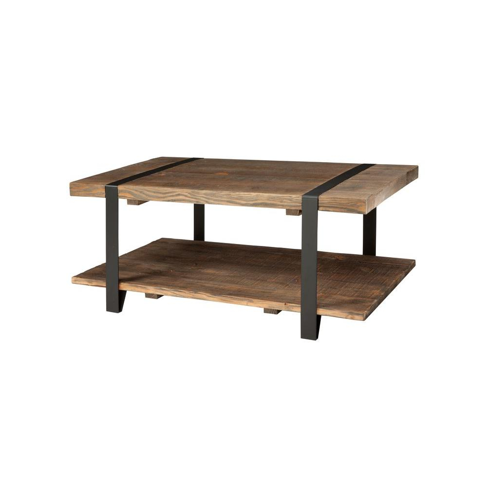 Modesto Rustic Natural Storage Coffee Table In Most Recently Released Alaterre Country Cottage Wooden Long Coffee Tables (View 15 of 20)