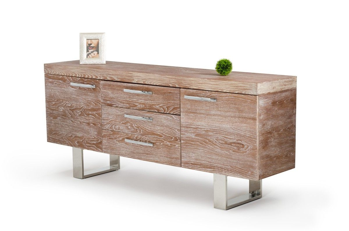 Modrest Lola Modern Elm Buffet | Beach | Modern Furniture With Lola Sideboards (View 15 of 20)