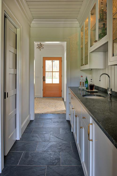 Moravia Kitchen Pantry Pertaining To 2019 Orange Front Door With Moravian Star Pendant – Cottage – Kitchen (View 12 of 20)