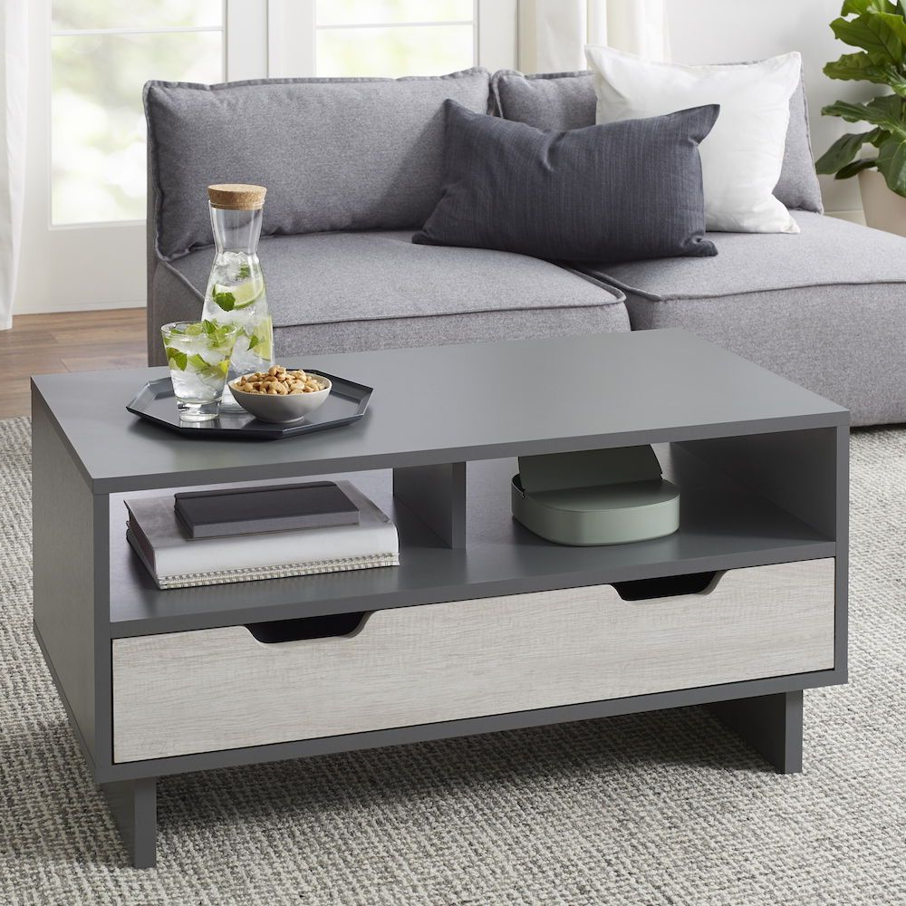 Most Current Arella Ii Modern Distressed Grey White Coffee Tables Pertaining To Better Homes & Gardens Better Homes&gardens Reagan Coffee (View 14 of 20)