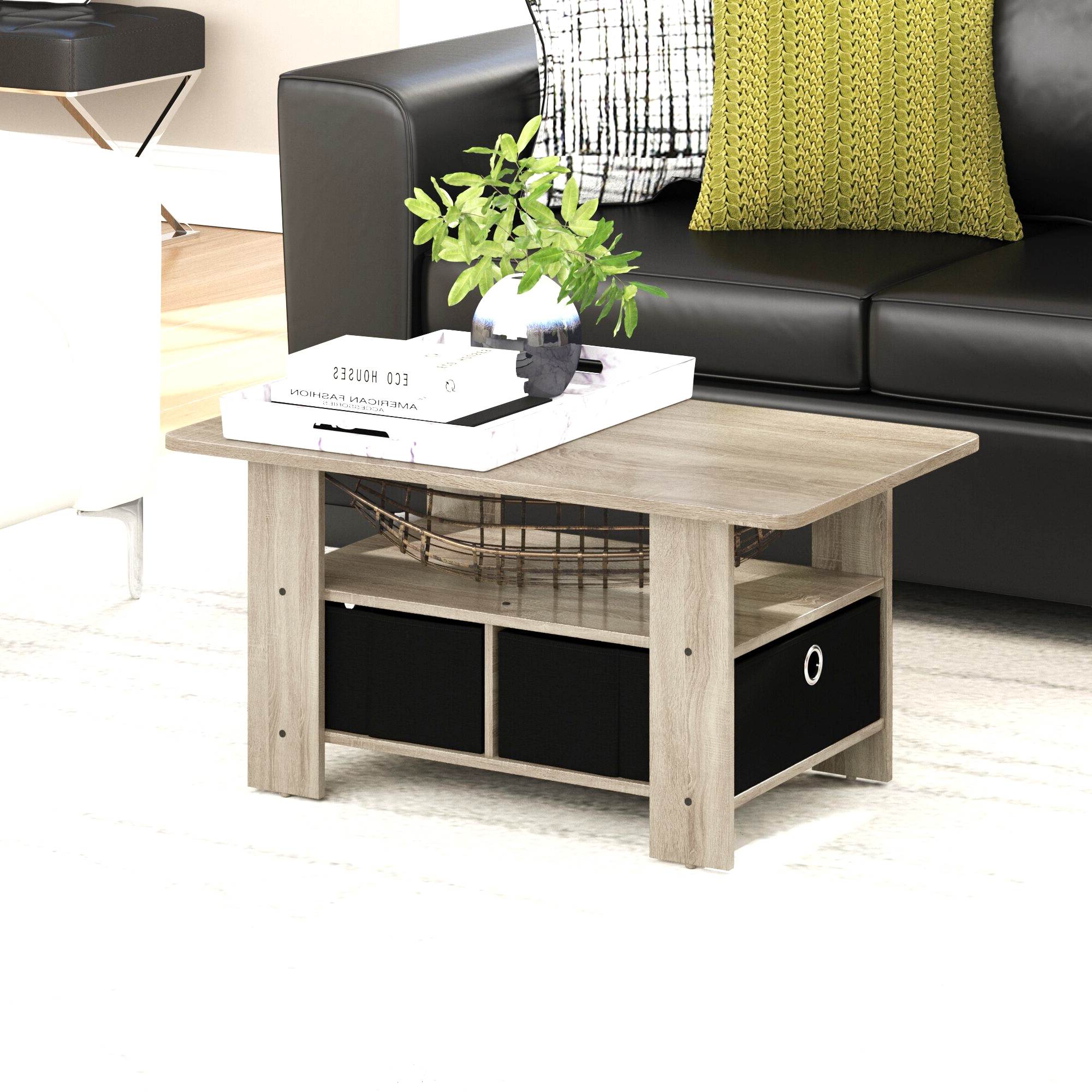 Most Current Bellamy Traditional Weathered Peppercorn Storage Coffee Tables For Crammed Coffee Table Storage Wrought Studio Kenton With (View 10 of 20)