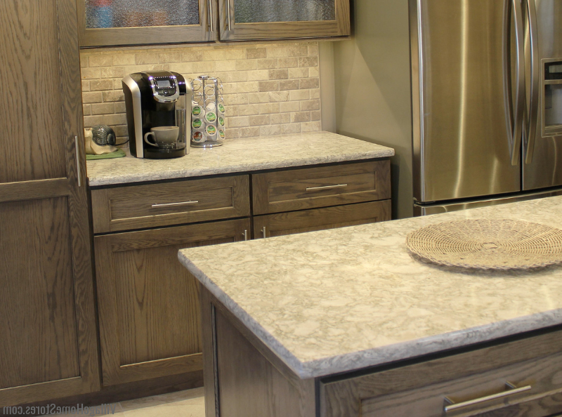 Most Current Berwyn Kitchen Pantry Throughout Warm Gray Oak Kitchen With Cambria Quartz – Village Home (View 11 of 20)
