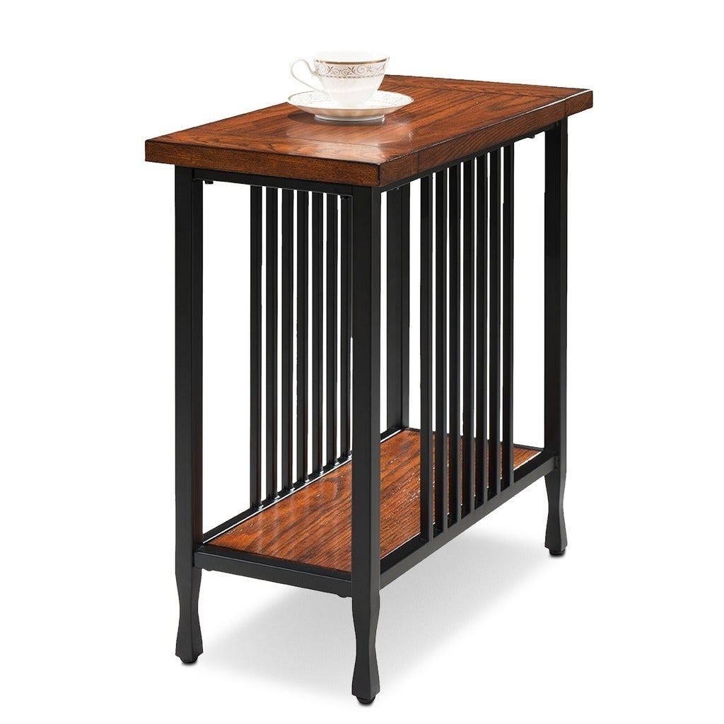 Most Current Carbon Loft Peter Matte Black Slatted Coffee Tables Pertaining To Carbon Loft Peter Matte Black Slatted Narrow Chairside Table (View 4 of 20)